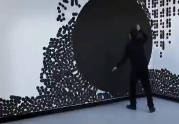 盘锦墙面互动触摸投影效果视频