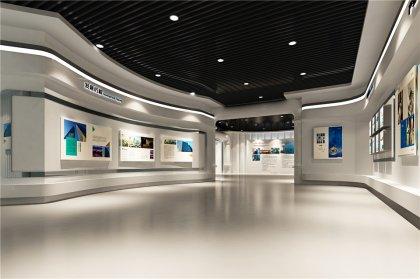 环保主题企业展厅设计效果图