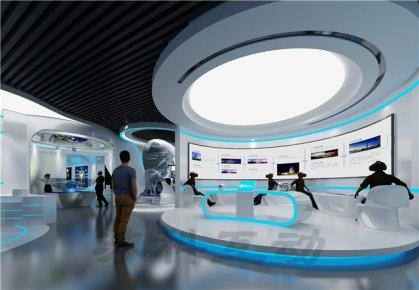 瑞安企业展厅装修设计