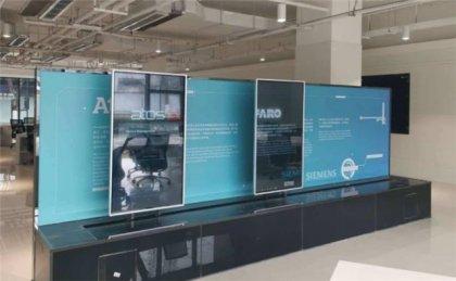 西安展厅互动滑轨显示屏