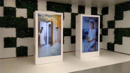 透明玻璃显示屏-透明液晶展示柜