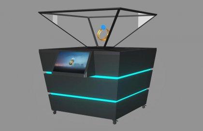 360度立体全息展示柜-270度全息橱窗投影